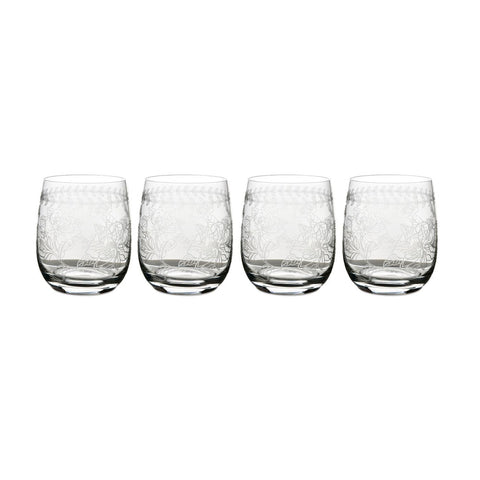 Botanic Garden Small  Glass Tumbler ( Box Set of 4 )