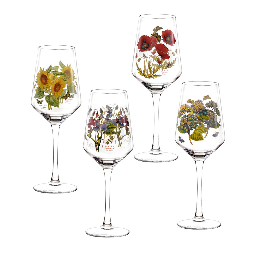 Botanic Garden Wine Glass - Assorted Boxed Set of 4