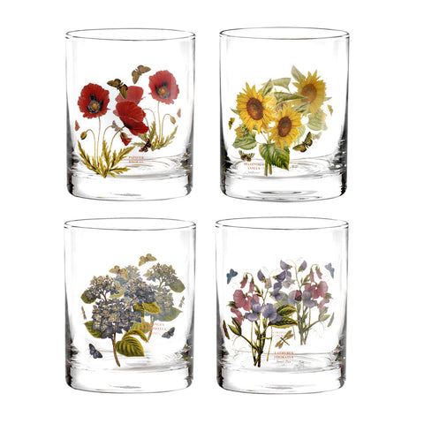 Botanic Garden Double Old Fashioned Glass - Assorted Box Set of 4