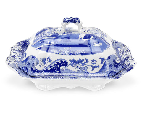 Spode Blue Italian Covered Vegetable / Casserole Dish