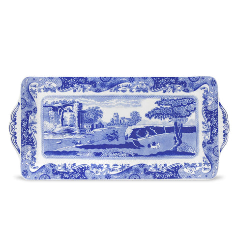 Spode Blue Italian Ceramic Sandwich Tray
