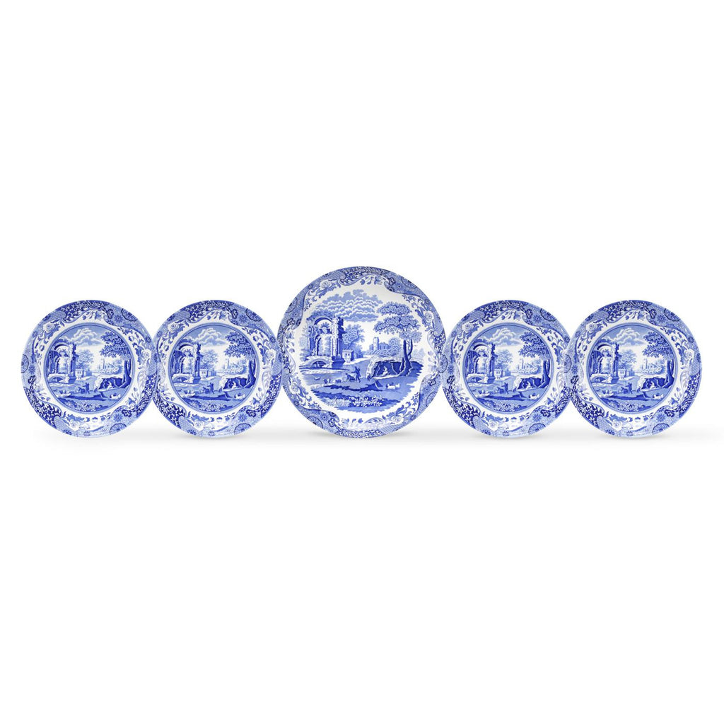 Spode Blue Italian 5 Piece Bowl Set