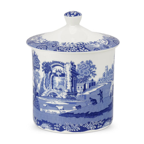 Spode Blue Italian Airtight Storage Jar 19cm / 7.5""