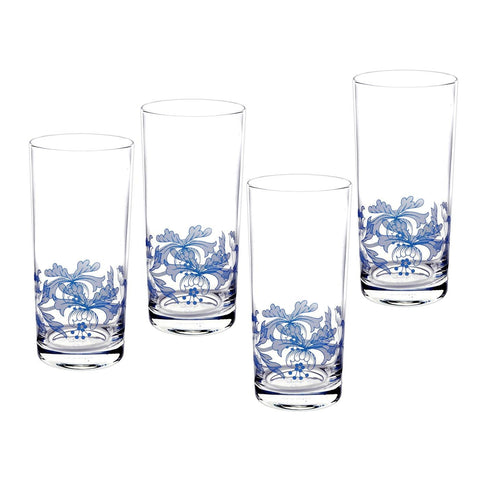Spode Blue Italian Hi-ball Glass - Gift Box Set of 4