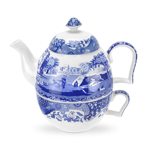 Spode Blue Italian Tea For One Teapot