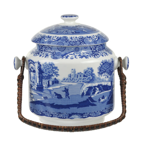 Spode Blue Italian Biscuit Barrel -  Special 200 Year Anniversary Edition