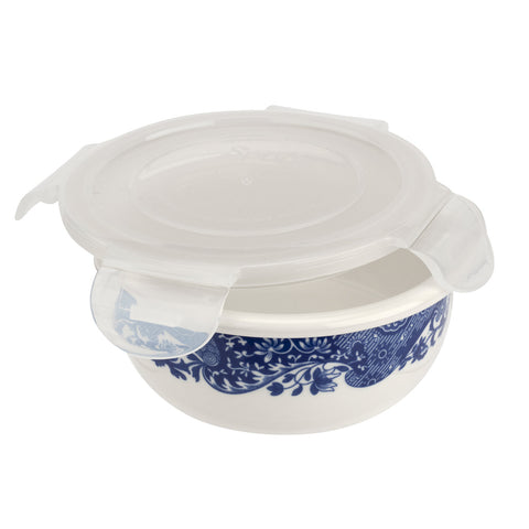 Spode Blue Italian Round Sealable Storage Container 13cm