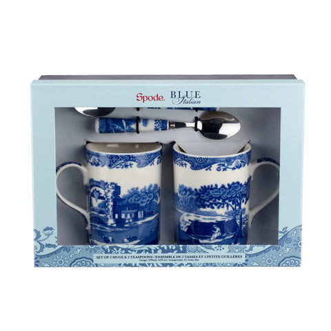 Spode Blue Italian Mug & Spoon Gift Set