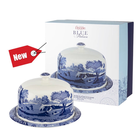 Spode Blue Italian Serving Platter with Dome - 250th Collection