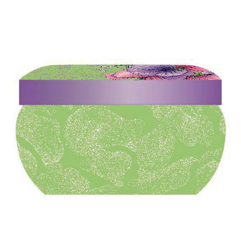 Botanic Blooms Wax Filled Boutique Candle Tin - Sweet Pea
