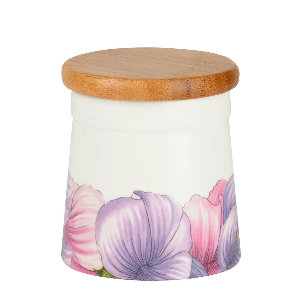 "Botanic Blooms Airtight Storage Jar 7.6cm / 3"" - Sweet Pea"