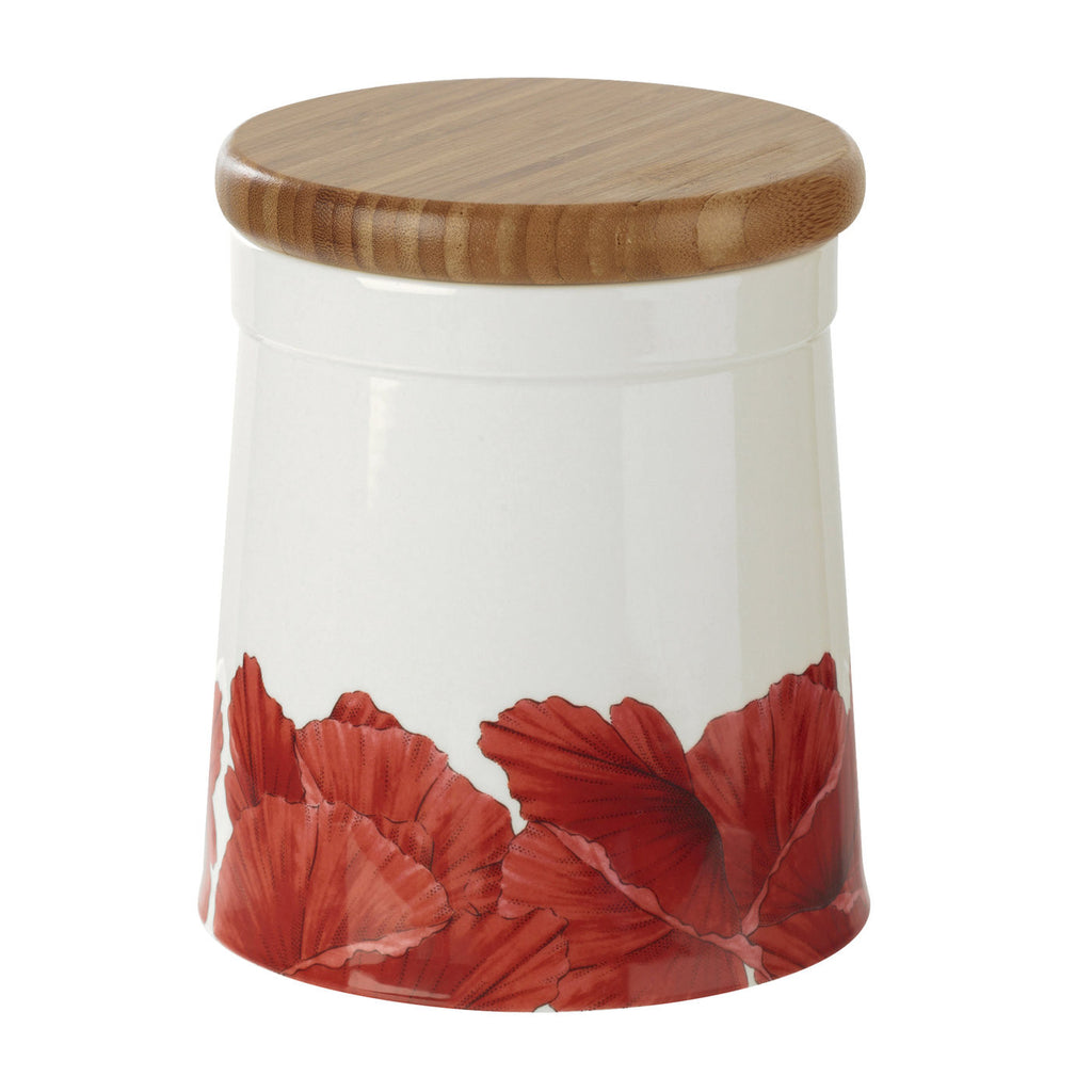 "Botanic Blooms Airtight Storage Jar 16.5cm / 6.5"" - Poppy"