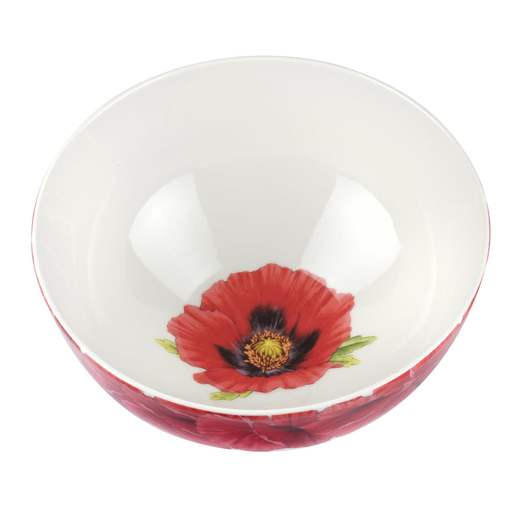 "Botanic Blooms Bowl 27.5cm / 11"" - Poppy"