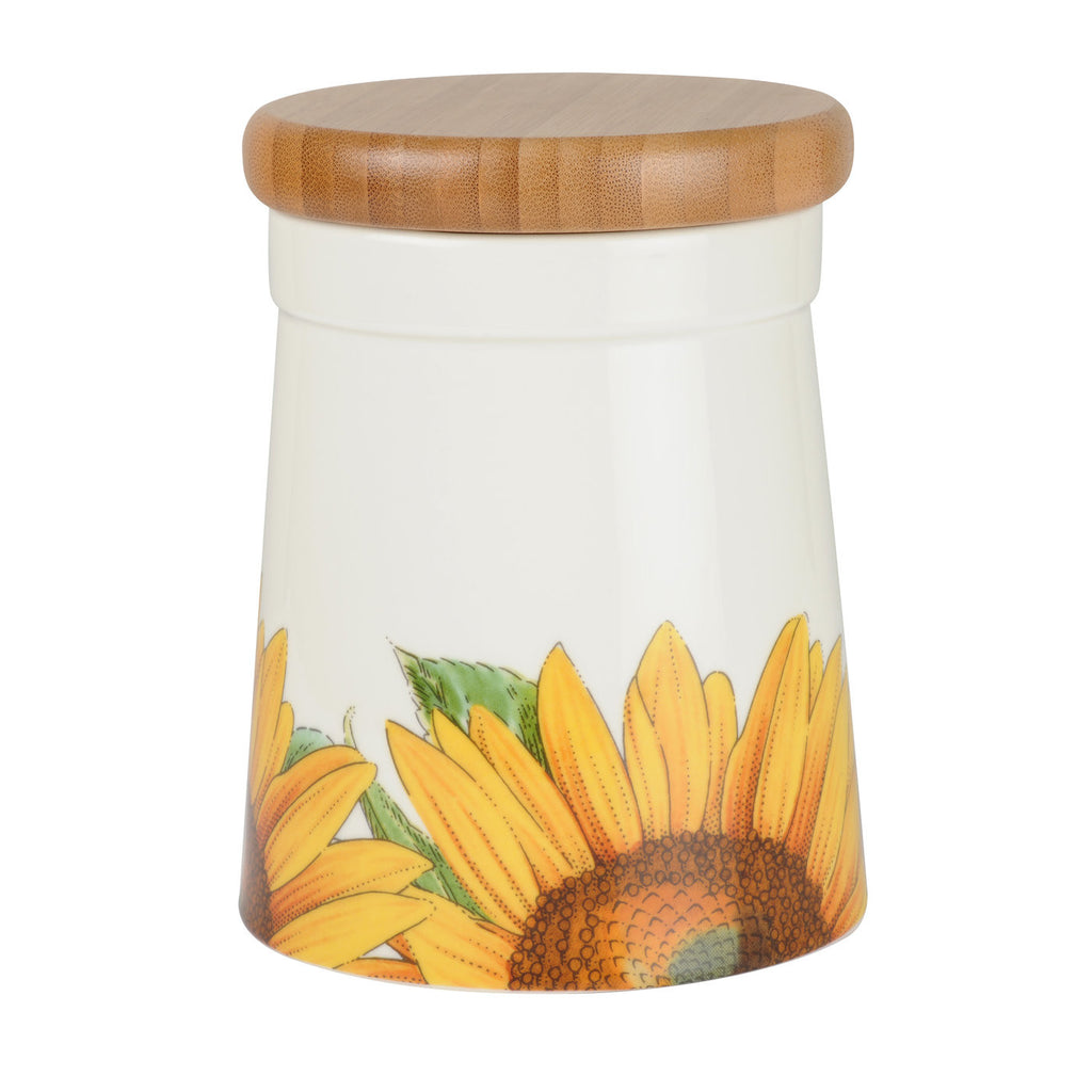 "Botanic Blooms Airtight Storage Jar 14.5cm / 5.5"" - Sunflower"