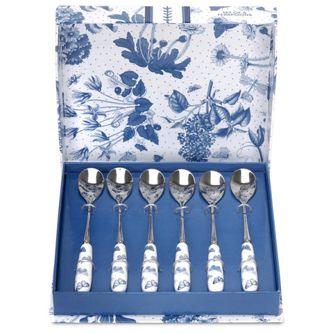 Botanic Blue Tea Spoons  ( Box Set of 6 )