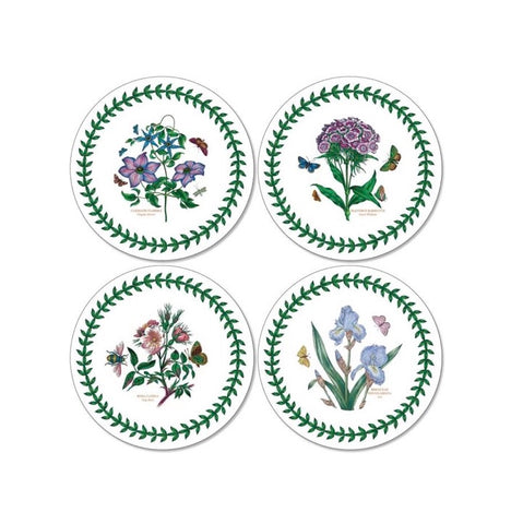 Botanic Garden Round Coasters - Box Set of 4