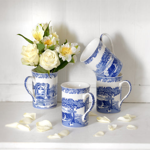 Spode Blue Italian Gift Box Set of 4 Mugs