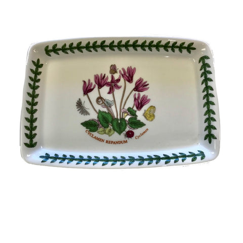 Botanic Garden Trinket Tray / Butter Base - Cyclamen