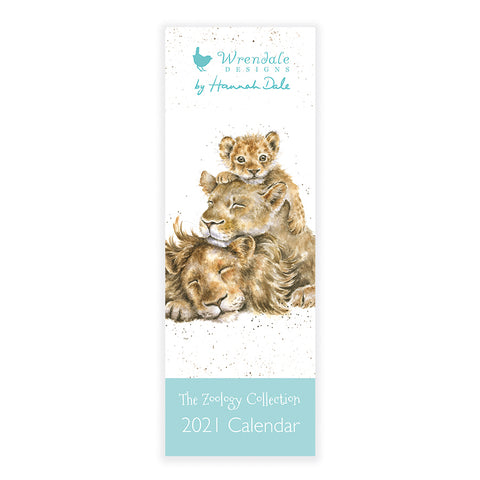 Wrendale Zoology Slim Calendar 2021