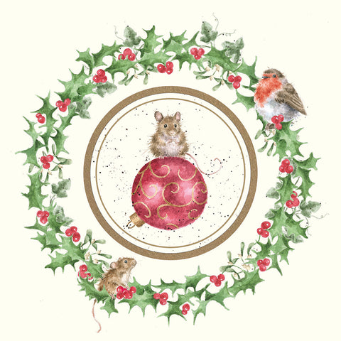 NEW 2018 Wrendale Christmas Decoration Card