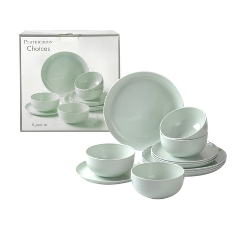 Choices 12 Piece Dinner Set - Pastel Green