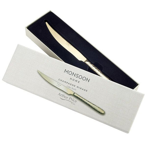 Arthur Price Monsoon Home Champagne Mirage Cake Knife