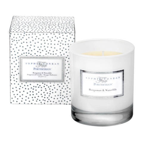 Sophie Conran Wax Filled Glass - Bergamot & Water Lily