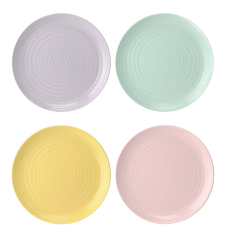 "Sophie Conran Coupe Shape Salad Plates  22cm / 8.5"" Colour Pop ( Box set of 4 )"
