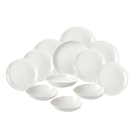 Sophie Conran 12 Piece White Dinner Service NEW Coupe Shape