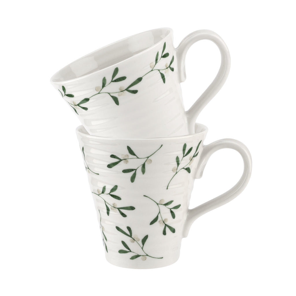 Sophie Conran Mistletoe Mugs  ( Gift Box Set of 2 )