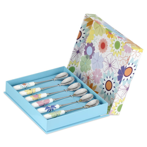 Crazy Daisy Tea Spoon Box set of 6