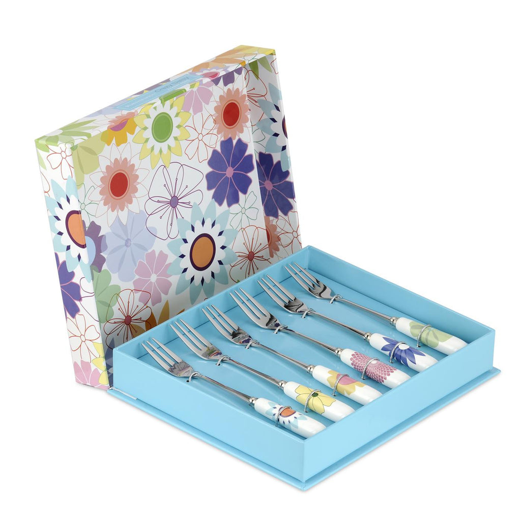 Crazy Daisy Pastry Fork Set of 6