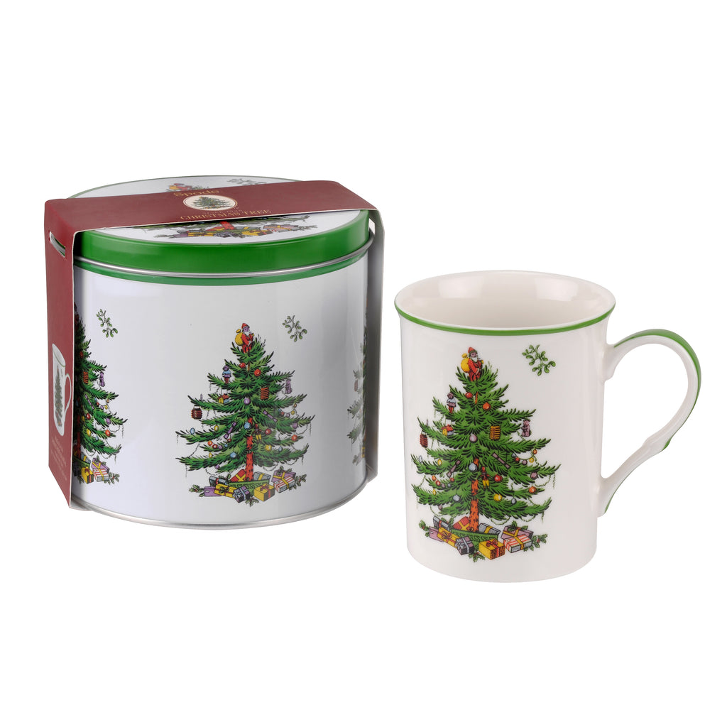 Spode Christmas Tree  Mug & Tin Set