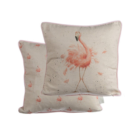 Wrendale Cushion - Flamingo
