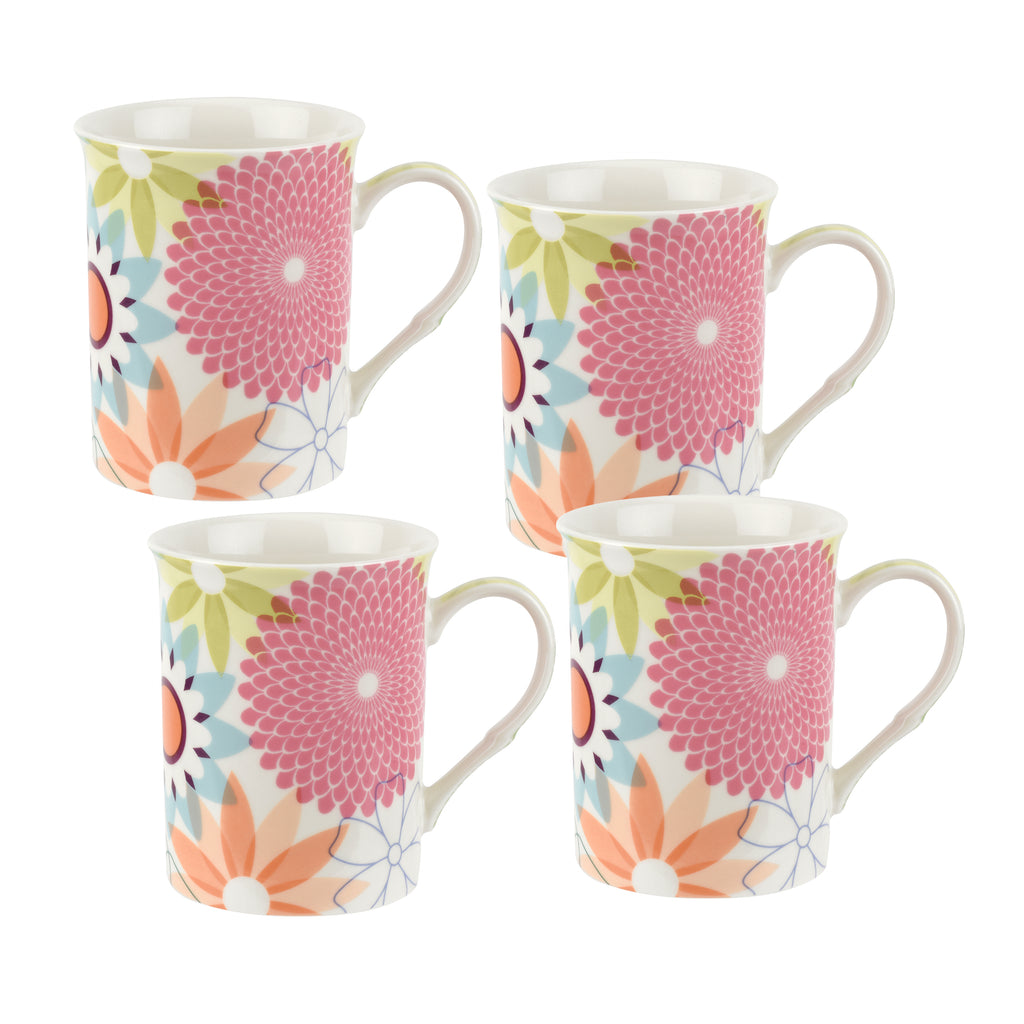 Crazy Daisy Gift Boxed Set of 4 Mugs