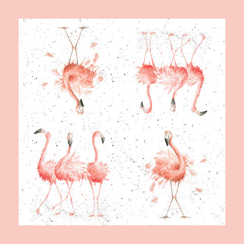 Wrendale Napkins and Display Box - Flamingoes