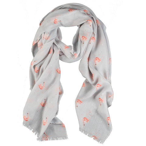 Wrendale Scarves - Flamingo
