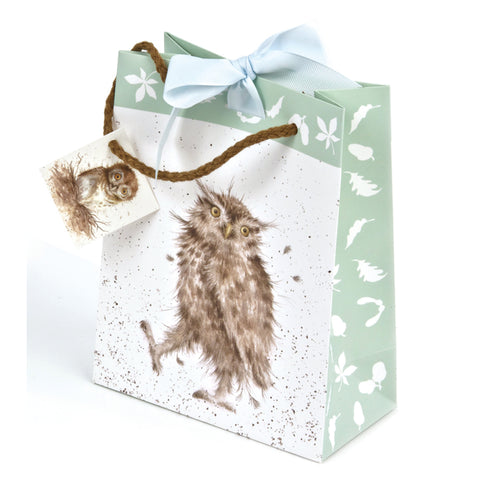 Wrendale Small Gift Bag - Owl