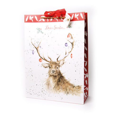 Wrendale Extra Large Christmas Gift Bag - Stag