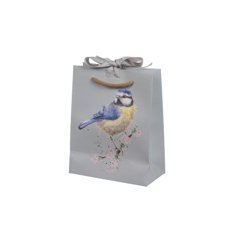 Wrendale Small Gift Bag - Garden Birds Blue Tits