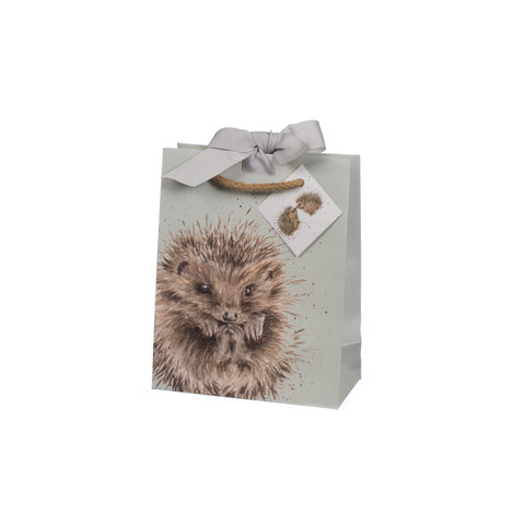 Wrendale Small Gift Bag - Woodlanders Hedgehog & Fox