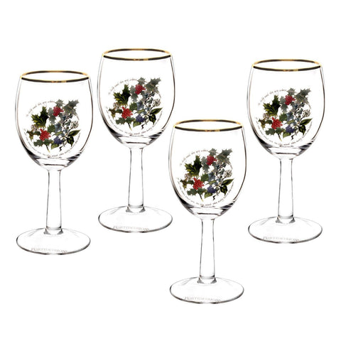 The Holly & the Ivy Wine Glass  ( Gift Box Set of 4 )