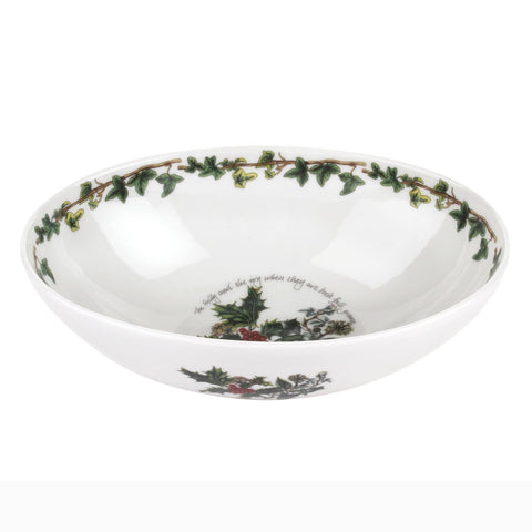 The Holly & the Ivy Deep Oval Bowl - 23cm / 9""