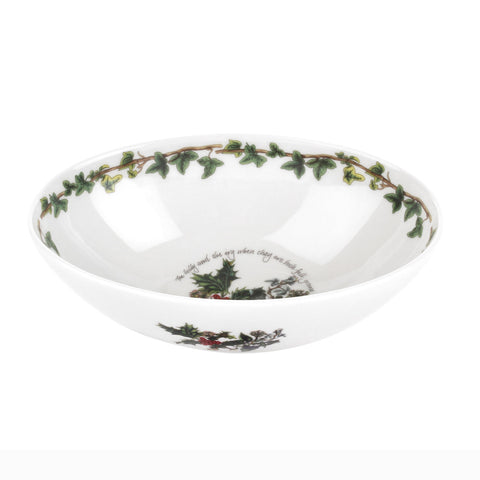 The Holly & the Ivy Deep Oval Bowl - 20cm / 8""