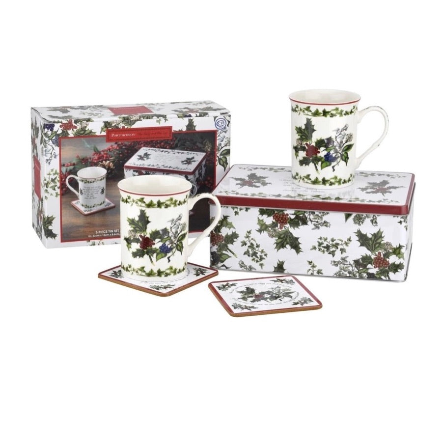 The Holly & the Ivy 5 Piece Tin Set