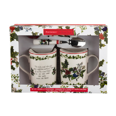 The Holly & the Ivy Mug & Spoon Gift Set