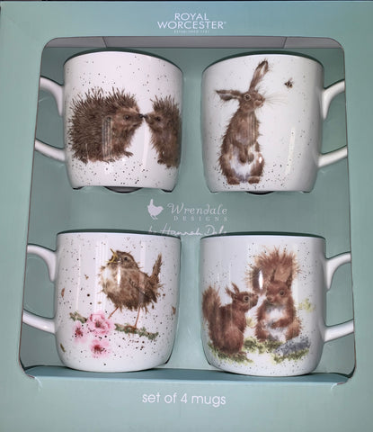 Wrendale Box Set of 4 Mugs  ( Country Animals )