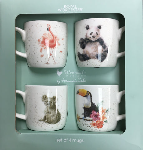 Wrendale Box Set of 4 Mugs Zoology Collection