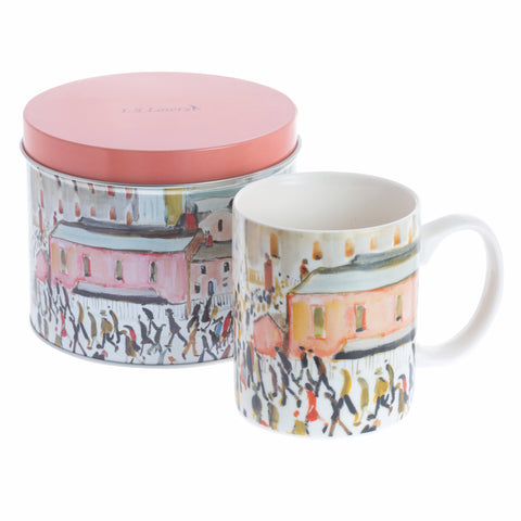 John Beswick Lowry Collection Mug & Tin Set - Going to Work