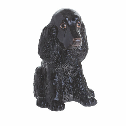 John Beswick Animal Money Bank - Black Cocker Spaniel